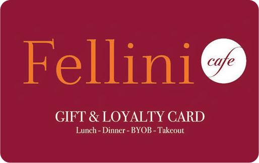 Fellini Cafe Gift Card